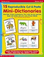 15 Reproducible Cut & Paste Mini-Dictionaries