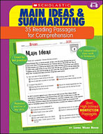 35 Reading Passages for Comprehension: Main Ideas and Summarizing
