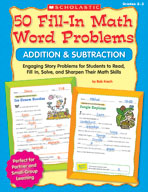 50 Fill-in Math Word Problems: Addition and Subtraction (E