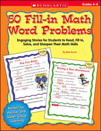 50 Fill-in Math Word Problems: Grades 4-6