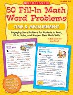 50 Fill-in Math Word Problems: Time and Measurement (Enhan