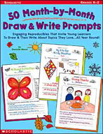 50 Month-by-Month Draw and Write Prompts (Enhanced eBook)