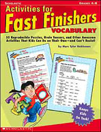 Activities for Fast Finishers: Vocabulary