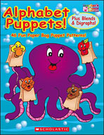 Alphabet Puppets! Plus Blends and Digraphs