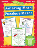 Amazing Math Puzzles & Mazes