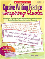 Cursive Writing Practice: Inspiring Quotes (Enhanced eBook)