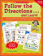 Follow the Directions... and Learn! Grade: PreK (Enhanced eBook)