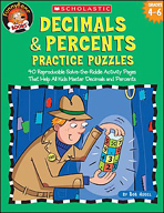 FunnyBone Books: Decimals & Percents Practice Puzzles