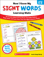 Now I Know My Sight Words Learning Mats