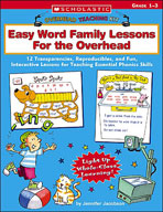 Overhead Teaching Kit: Easy Word Family Lessons For the Overhead