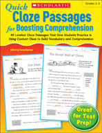 Quick Cloze Passages for Boosting Comprehension: Grades 2-