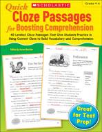 Quick Cloze Passages for Boosting Comprehension: Grades 4-