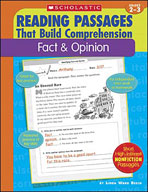 Reading Passages That Build Comprehension: Fact and Opinio