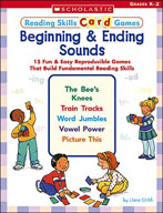 Reading Skills Card Games: Beginning and Ending Sounds (En