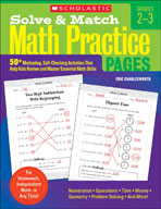 Solve and Match Math Practice Pages: Grades 2-3 (Enhanced eBook)