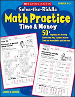 Solve-the-Riddle Math Practice: Time and Money
