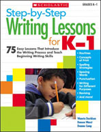 Step-by-Step Writing Lessons for Kindergarten - Grade 1 (E