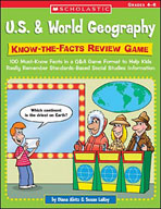 U.S. and World Geography: Know-the-Facts Review Game (Enha