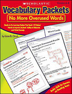 Vocabulary Packets: No More Overused Words (Enhanced eBook)