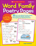 Word Family Poetry Pages