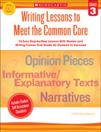 Writing Lessons To Meet the Common Core: Grade 3 (Enhanced eBook)
