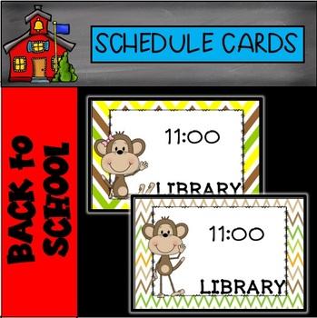 Editable Monkey Schedule Cards