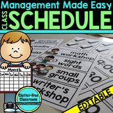 SCHEDULE CARDS : an Editable Classroom Management Tool
