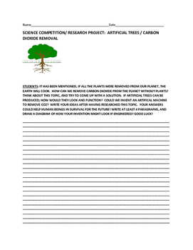 SCIENCE CONTEST/RESEARCH PROJECT: ARTIFICIAL TREES/CO2 REM