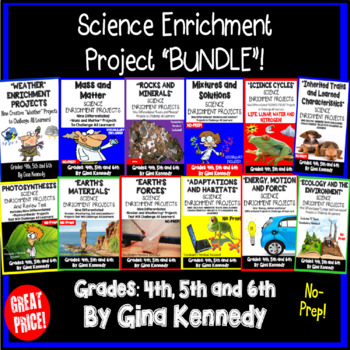 Science Enrichment Projects For the Entire Year! Vocabular