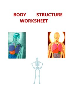 SCIENCE  HUMAN  BODY WORKSHEET - ELEMENTARY MIDDLE HIGH BIOLOGY