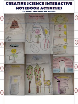 SCIENCE INTERACTIVE NOTEBOOK ACTIVITIES For plants, light,
