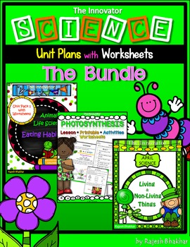 SCIENCE – Unit Packs with Worksheets - The Bundle