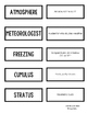 SCIENCE VOCAB GAME CARDS - WEATHER