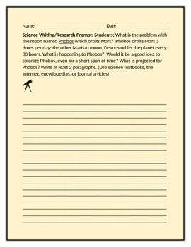SCIENCE WRITING//RESEARCH PROMPT: PHOBOS