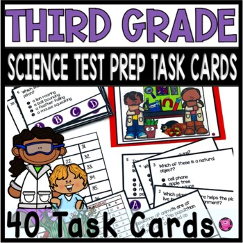 3rd GRADE COMMON CORE SCIENCE TASK CARDS and SCOOT GAME