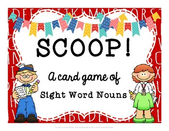 SCOOP! Dolch Nouns Card Game