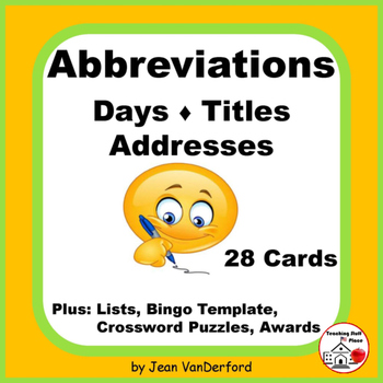 Abbreviations  Gr 3-4-5 CORE  Days,Titles, Addresses Task