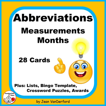 ABBREVIATIONS | Measurement and Months |TASK CARDS | Refer