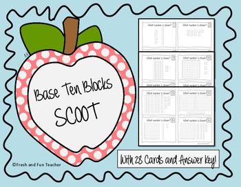 SCOOT Game Base Ten Blocks {28 Cards}