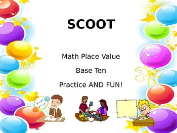 SCOOT- Place Value Math Game