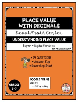 SCOOT - Place value with decimals