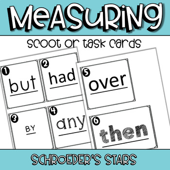 SCOOT! Sight Word Measuring