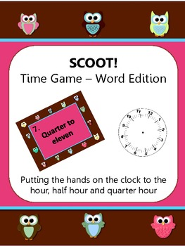 SCOOT!  Time Game - Word Edition