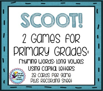SCOOT!  Using Capital Letters and Rhyming with Long Vowels