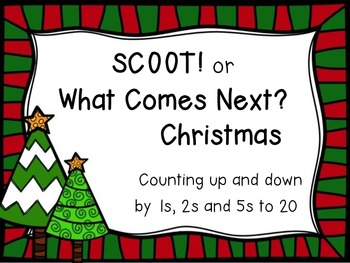 SCOOT or What Comes Next? Christmas - count up and down by