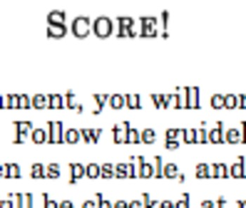 SCORE Student-Self Assessment