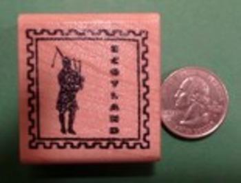 SCOTLAND Country/Passport Rubber Stamp