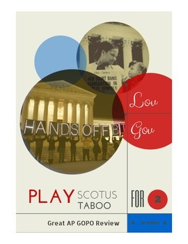 SCOTUS Court Case Taboo Game