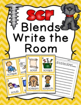 SCR Blends Write the Room Activity