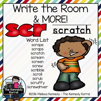 Trigraphs: SCR {Write the Room, Word Cards & More!}